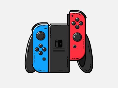 Nintendo Switch Joy Con - Vector Illustration nintendo switch joy con switch video games illustrator nintendo vector illustration graphic design design