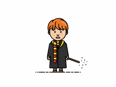 Ron Weasley ron weasley harry potter character illustrator vector illustration graphic design design