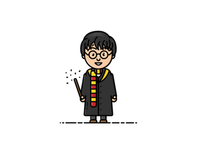 Harry Potter - Vector Illustration wand harry potter wizard illustrator vector illustration graphic design design