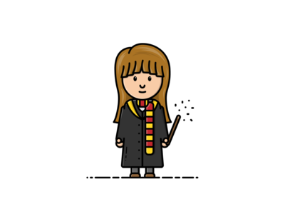Hermione Granger - Vector Illustration hermione granger wizard character harry potter illustrator vector illustration graphic design design