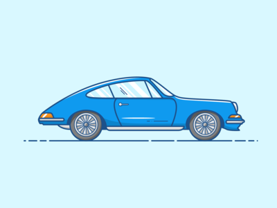 Porsche 911 - Vector Illustration