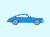 Porsche 911 - Vector Illustration