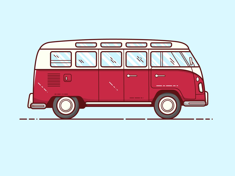 Van - Vector Illustration volkswagen 80s van illustrator vector illustration graphic design design