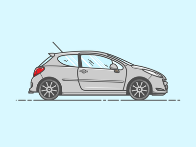 Peugeot 207 - Vector Illustration