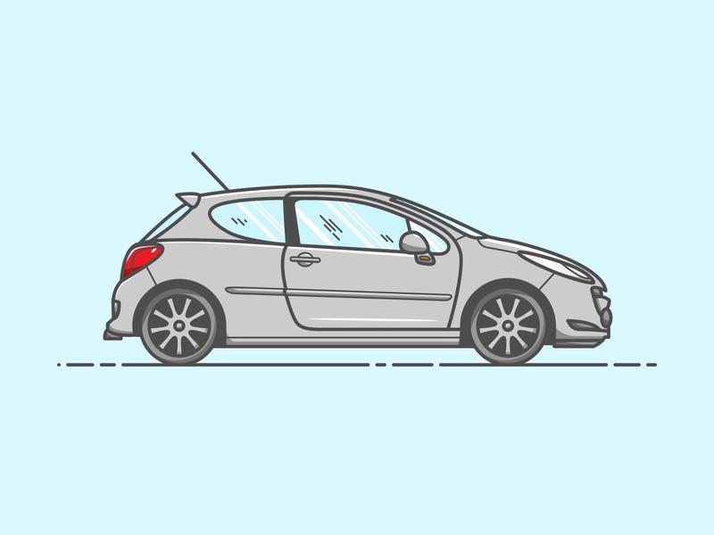 Peugeot 207 - Vector Illustration 207 peugeot car illustrator vector illustration graphic design design
