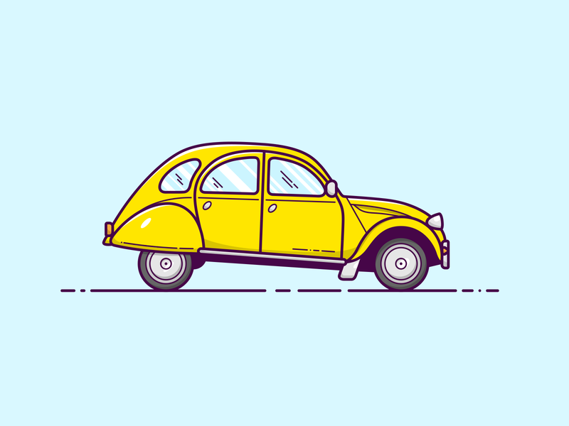 2CV - Vector Illustration car illustrator vector illustration graphic design design