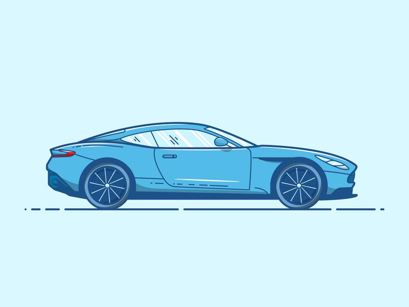 Aston Martin DB11 - Vector Illustration art artwork elegant design blue cartoon sport car luxury design car aston martin illustrator vector illustration graphic design design