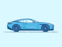 Aston Martin DB11 - Vector Illustration