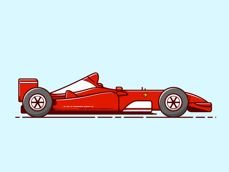 F1 - Vector Illustration artwork art formula 1 racecar race ferrari sport formule 1 car illustrator vector illustration graphic design design