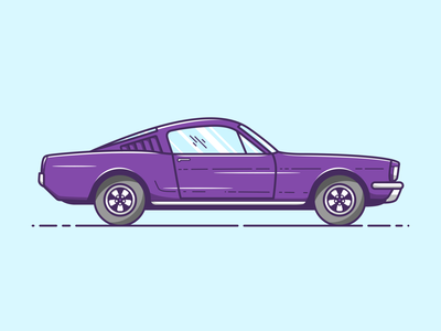 Ford Mustang - Vector Illustration