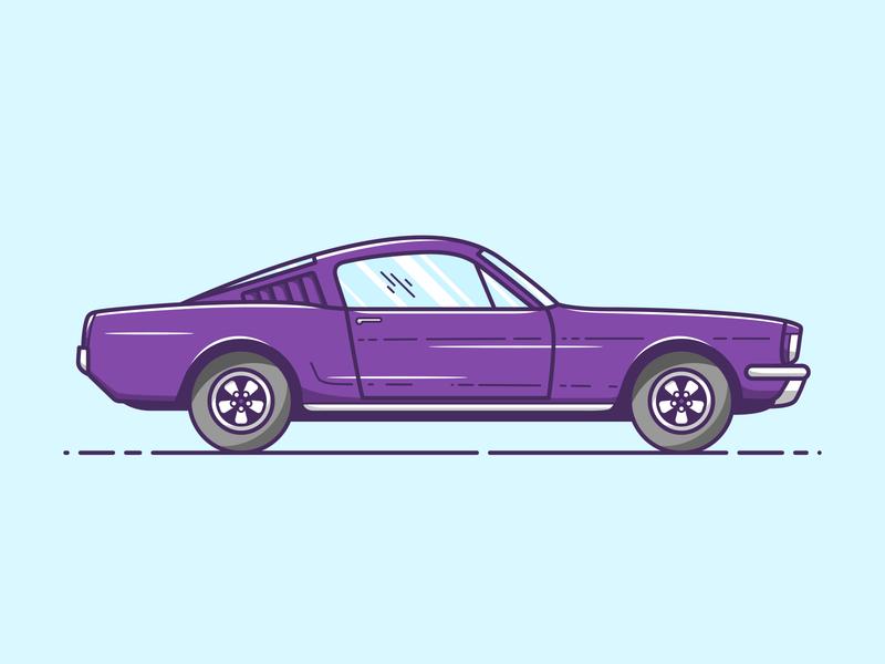 Ford Mustang - Vector Illustration flat design 2d artwork art mustang ford car illustrator vector illustration graphic design design