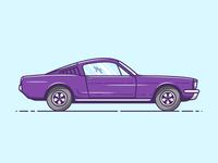 Ford Mustang - Vector Illustration