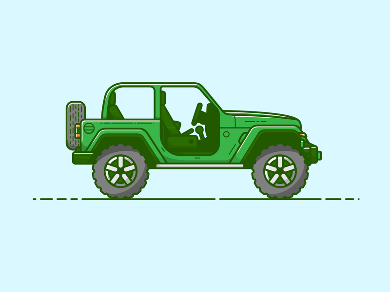 Jeep - Vector Illustration artwork art car jeep atv illustrator vector illustration graphic design design