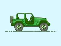 Jeep - Vector Illustration