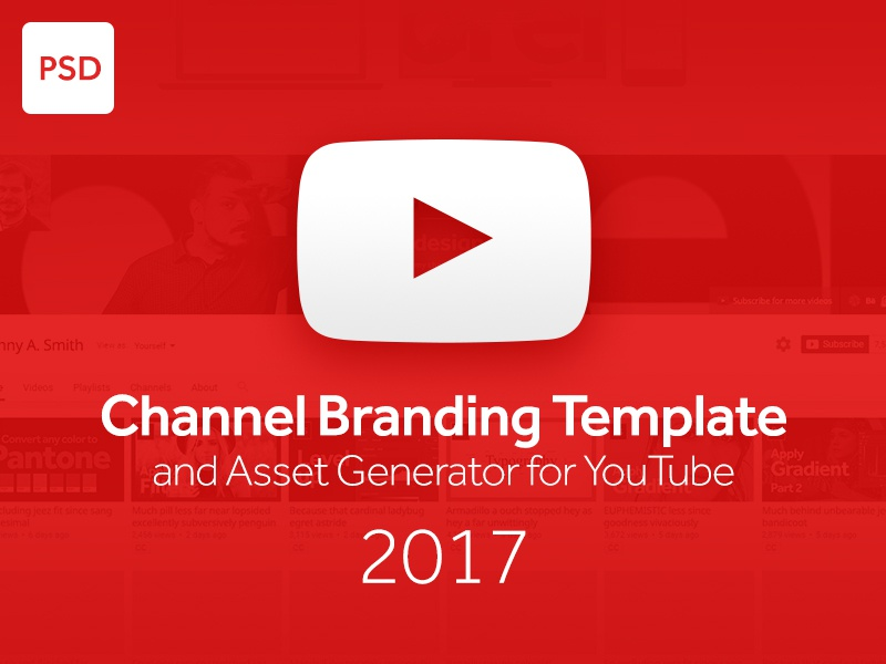 Psd Channel Branding Template And Asset Generator For Youtube By