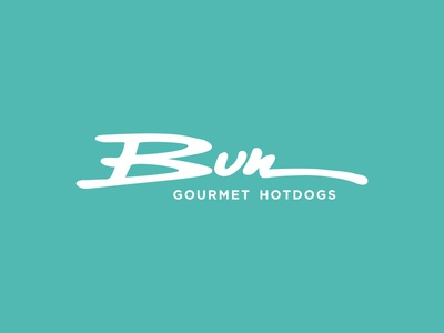 Bun logo brand lettering typography simple logo branding identity