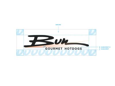 Bun logo grid handcraft handcrafted lettering lettering logo typography brand logo branding identity clean