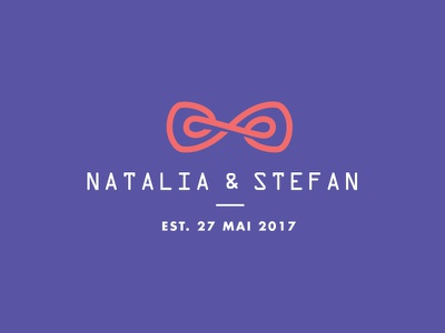 Natalia & Stefan wedding concept simple logo branding identity clean