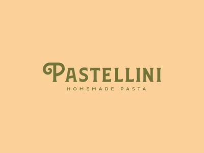 Pastellini custom letters pasta typography simple logo branding identity clean