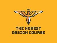 The Honest Design Course brand industrial course illustrator pen tool eagle logo branding identity clean