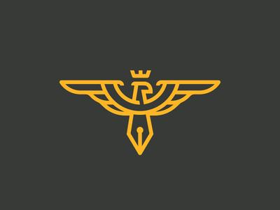 The Honest Design Course brand industrial course illustrator pen tool eagle logo branding identity clean