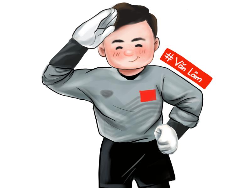 Dang Van Lam goal keeper of Vietnam illustrator