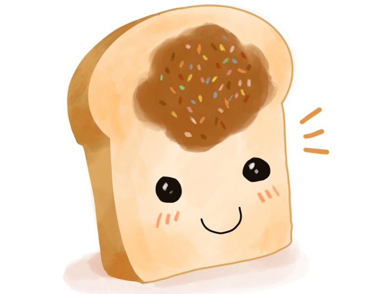 Hi Mr Bread with Peanut butter cute drawing daily drawing challenge procreate art procreate illustrator procreate