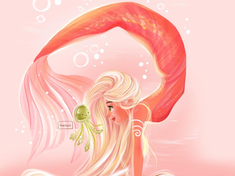 Yoga mermaid drawingchallenge drawthisinyourstyle artdaily mermaid illustrator illustration