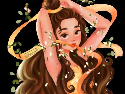 #Drawthisinyourstyle girl in illustration style