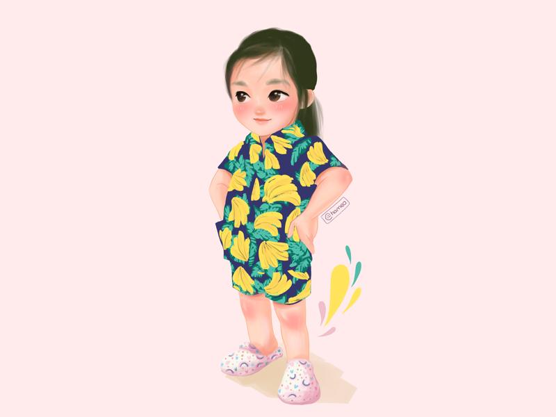 Best summer ever! character drawing girl drawing cute art pocreate illustrator illustration character design character art