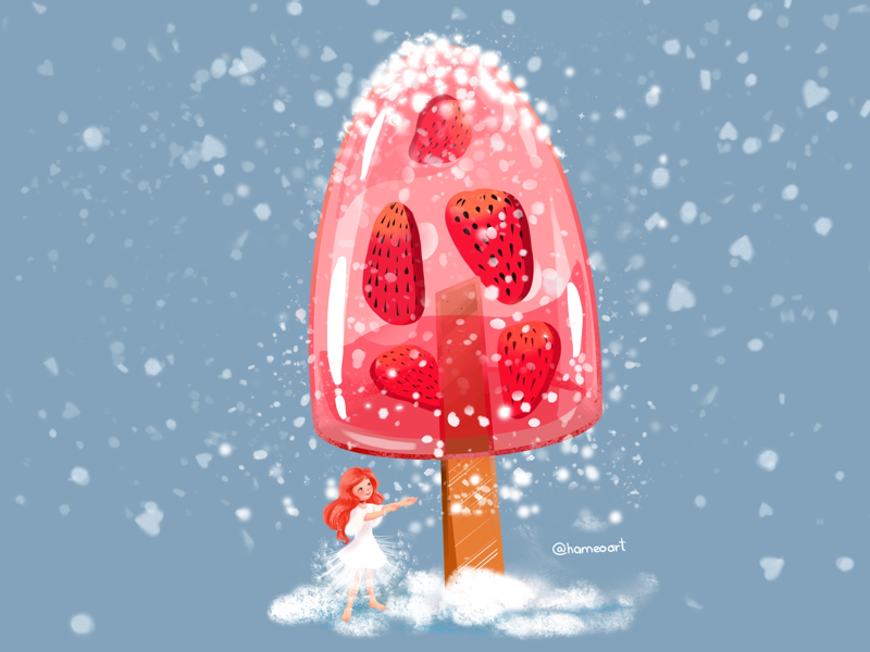 My summer dream is... lovely magic illustration cool icescream