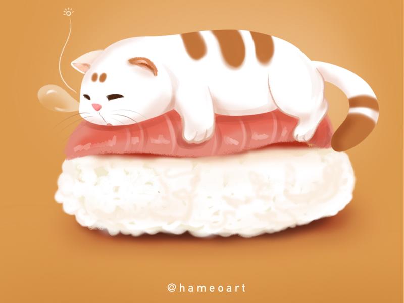 Lazy..... procreate illustration cat liver cat drawing cat illustration cute cat cat