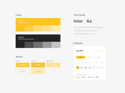 DPR - RI Design Guideline layout user inteface ui clean yellow atomic design guideline design