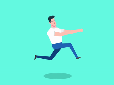 Running (Chase) run cycle character animation after effects illustrations