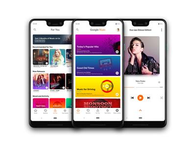 Google Play Music Redesign
