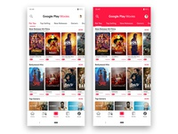 Google Play Movies Store app Redesign with material design 2
