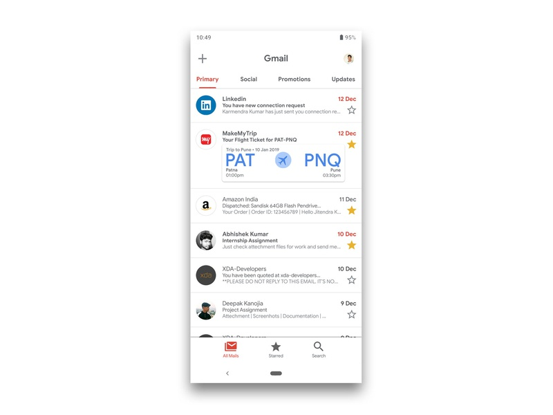 Gmail App Redesign | Material Design 2 Theming by Kumar
