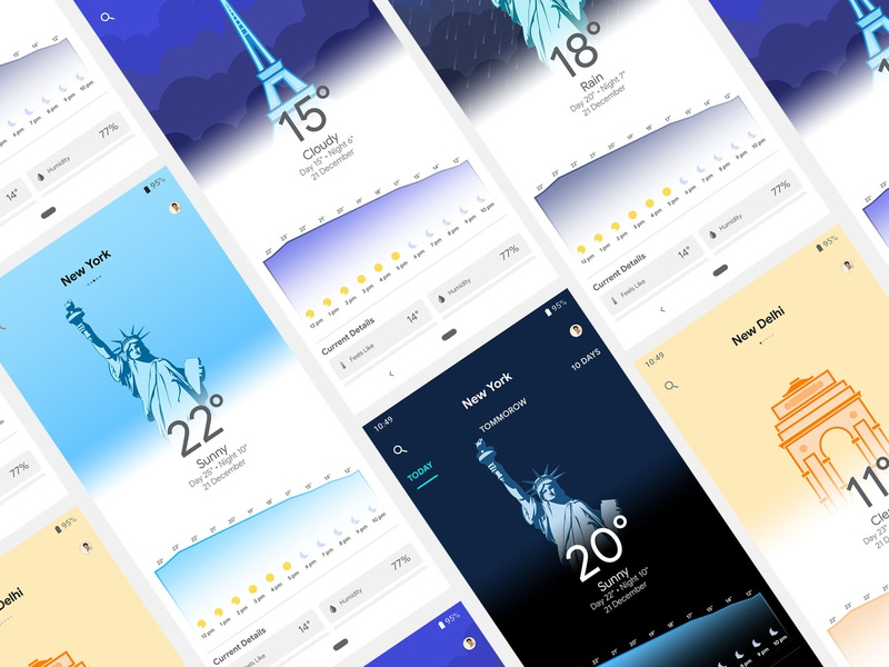 Google Weather App Design Concept Final app concept typography app animation logo design branding illustration weather app google design google apps ui dashboard ui  ux design vector ios app design android app design mobile app design material design dashboard design