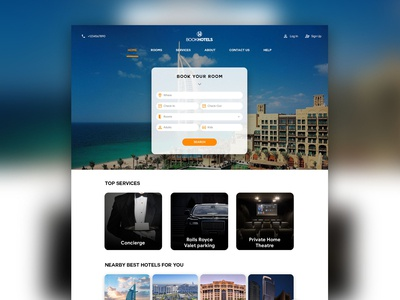 Web Design of A Hotel Booking Website