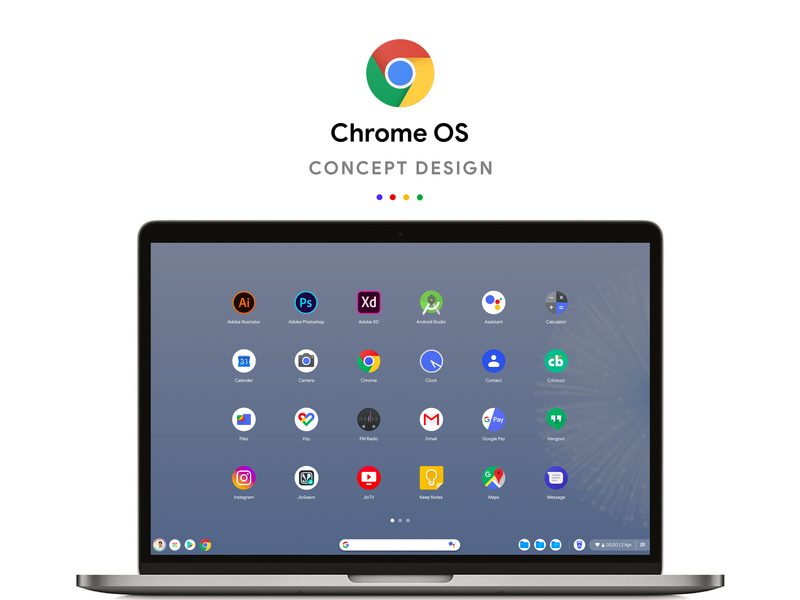 Google Chrome OS Concept Design google design logo app design android app icon concept design illustration app concept ios app design branding ux ui android app design chrome os chromebook app dashboard material design