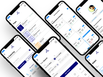 Train booking app design