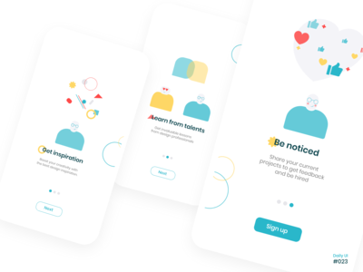 Daily UI #023  Onboarding