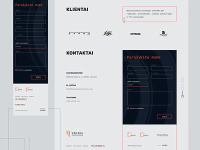 Viking Constructions website form custom icons projects responsive website onepage landingpage website ui design