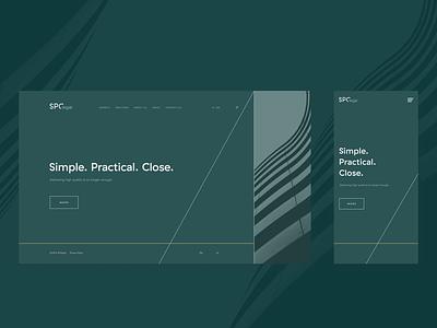 SPC legal law firm close practical simple legal ornaments menu bar webdesign green services index page ux ui