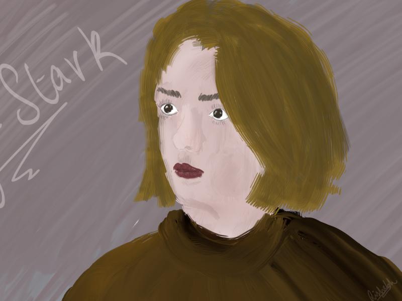Arya Stark - Digital Painting game of thrones arya stark digital painting