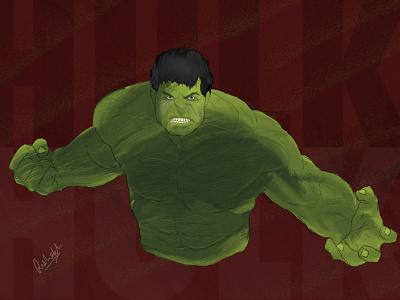 Hulk - Digital Art  digital drawing digital painting wacom hulk