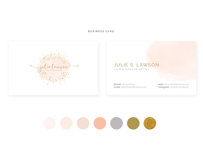 Business Card icon watercolor illustration typography photography logo photography logo feminine logo feminine busines card branding