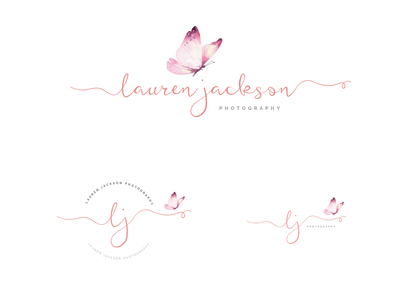 Photography Logo, Watermark with butterly