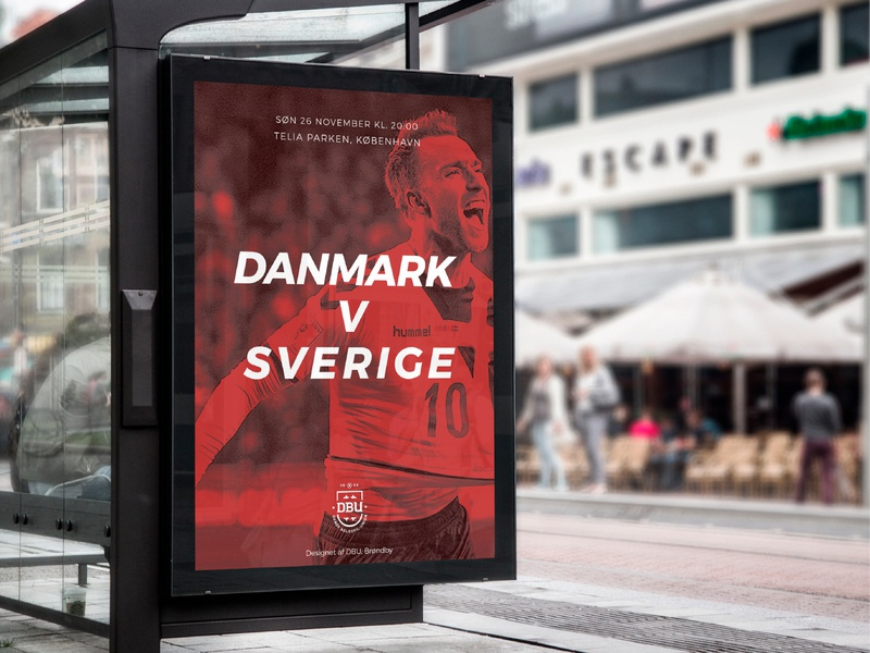 Denmark National Football Team - Advertisement Concept branding challenge rebrand typography logo designer logo football design denmark