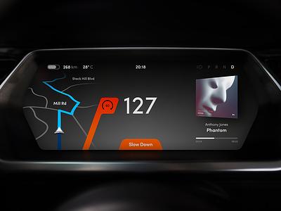 Car Dashboard Concept speedometer speed dashboard cluster car automotive